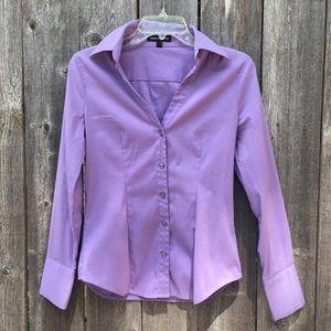 Express button down shirt purple micro dot Size sm